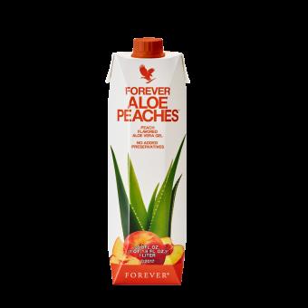 Aloe Vera Drinking Gel Peach, Aloe Bits N 'Peaches Tetra Pak 777, 1l