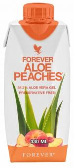 12 x 330ml Aloe Vera Trinkgel (84,3%), Forever Aloe Peaches™