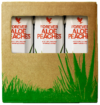 Tripack Forever Aloe Peaches™  84,3% Aloe-Vera-Gel 3 Liter